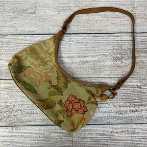Fossil Floral/ Cottagecore fabric purse- KEY!